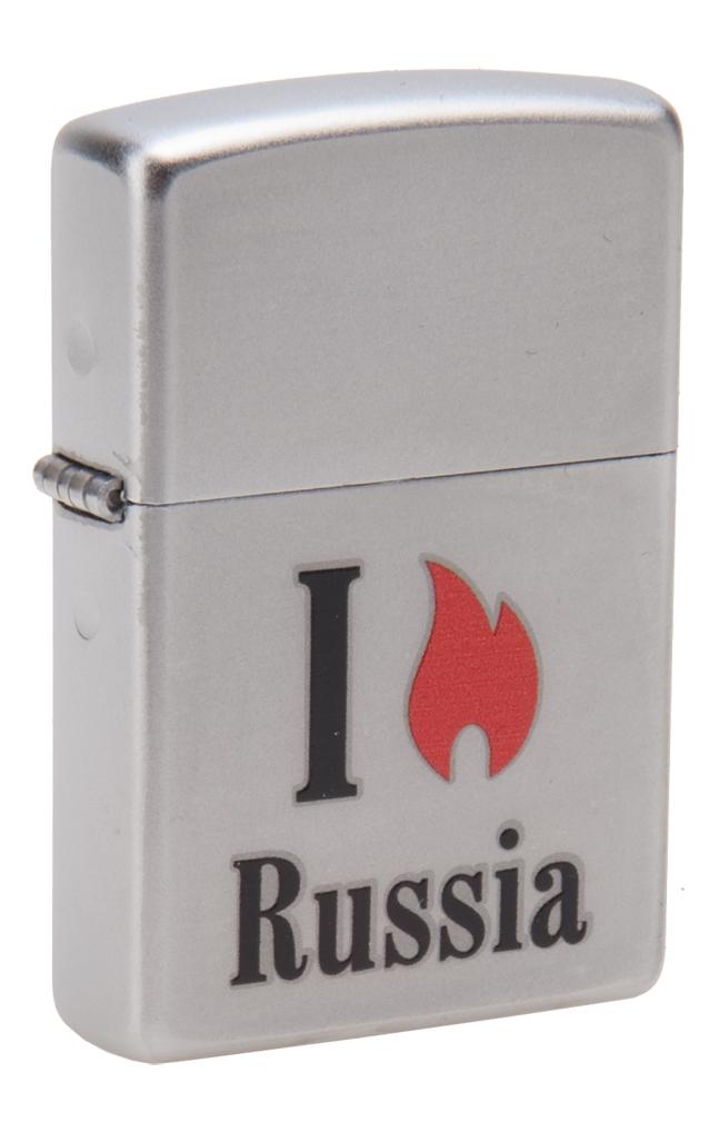 Зажигалка Zippo Classic. Flame Russia, 3,6 х 1,2 х 5,6 см