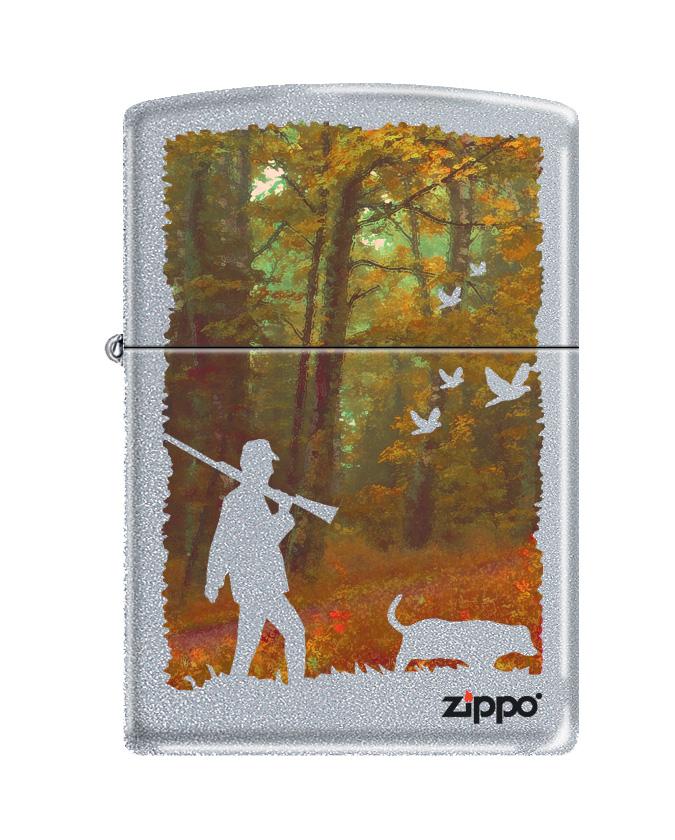 """Зажигалка Zippo """"Classic. Hunting"""", 3,6 х 1,2 х 5,6 см"""