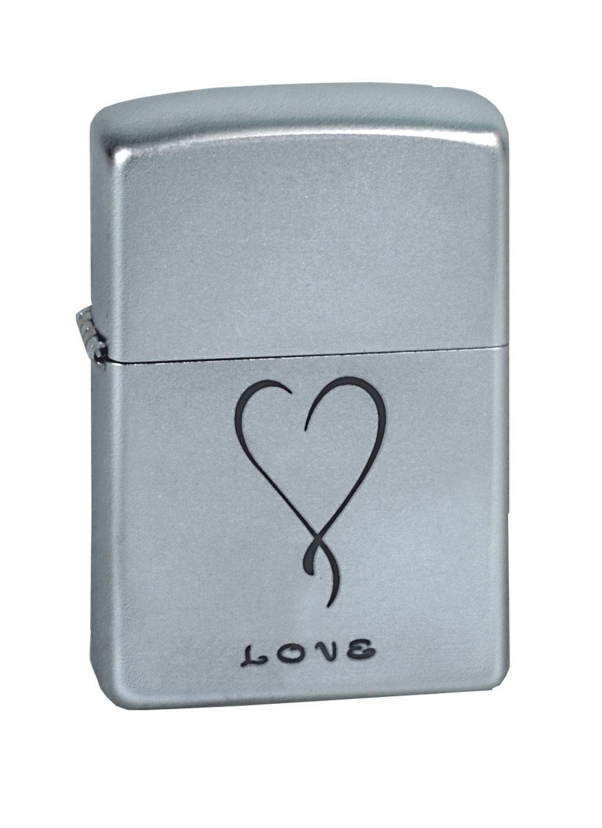 Зажигалка Zippo Classic. Love, 3,6 х 1,2 х 5,6 см