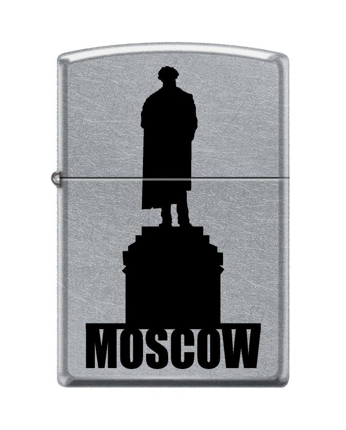 """Зажигалка Zippo """"Classic. Moscow Silhouette"""", 3,6 х 1,2 х 5,6 см"""
