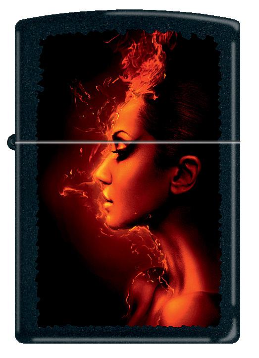 """Зажигалка Zippo """"Burning Woman"""". 218"""
