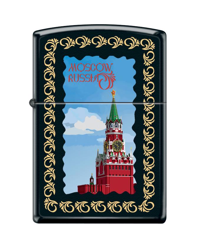 "Зажигалка Zippo ""Classic. Moscow Kremlin Framed"", 3,6 х 1,2 х 5,6 см"