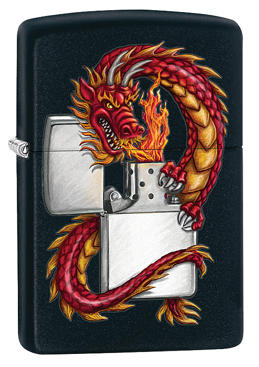 """Зажигалка Zippo """"Classic. Oriental Dragon"""", 3,6 х 1,2 х 5,6 см"""
