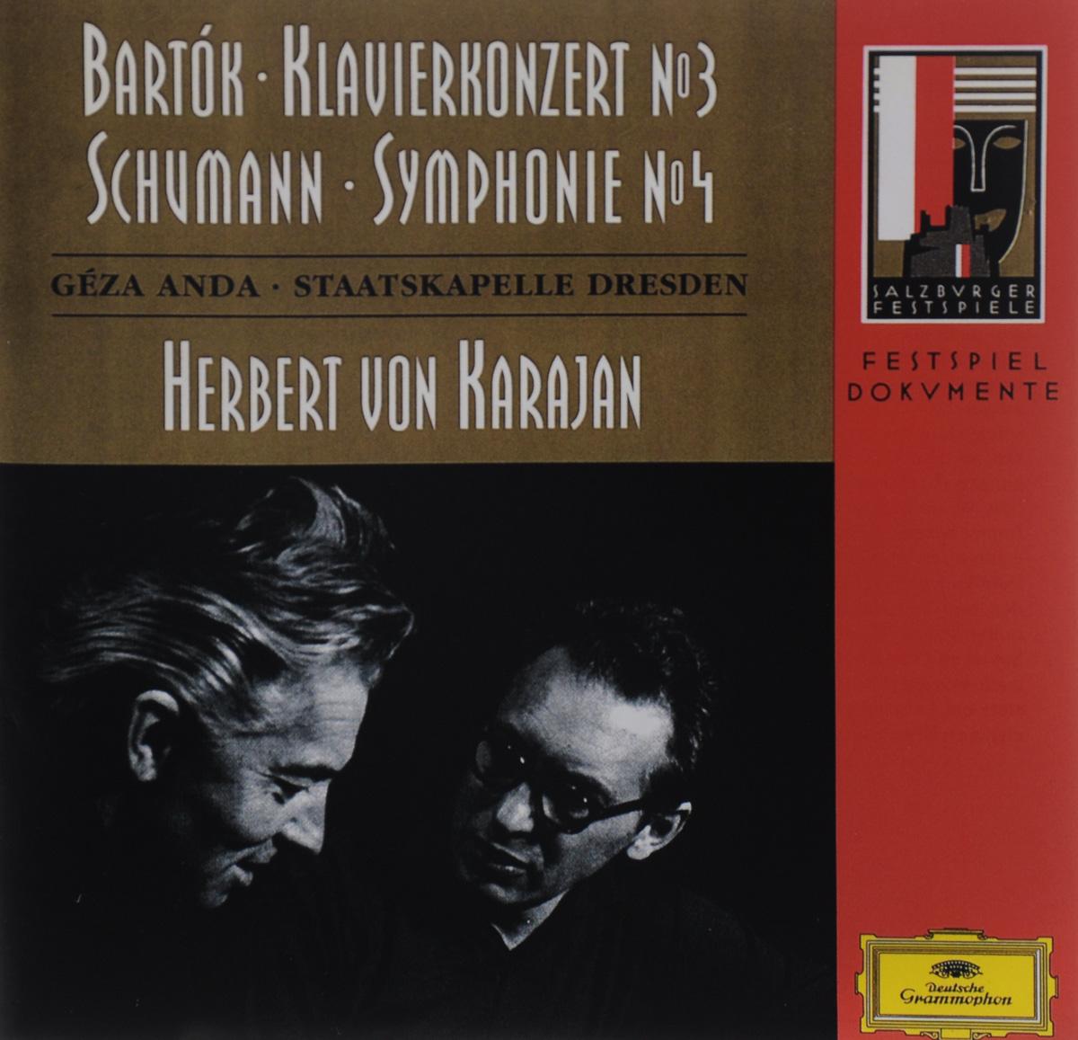 Геза Анда,Staatskapelle Dresden Herbert von Karajan. Bartok. Klavierkonzert №3 / Schumann. Symphonie №4 цена в Москве и Питере