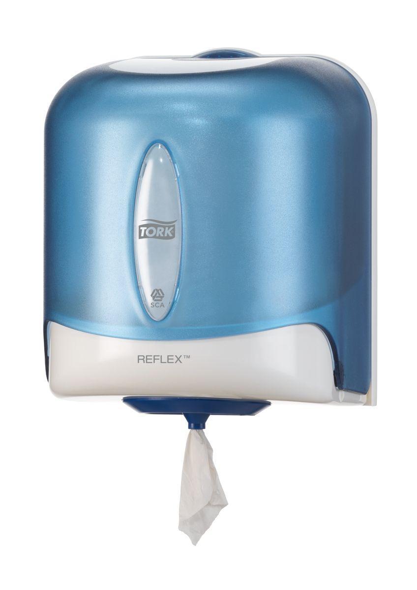 """Диспенсер для бумажных полотенец """"Tork"""", цвет: голубой. 473133"""