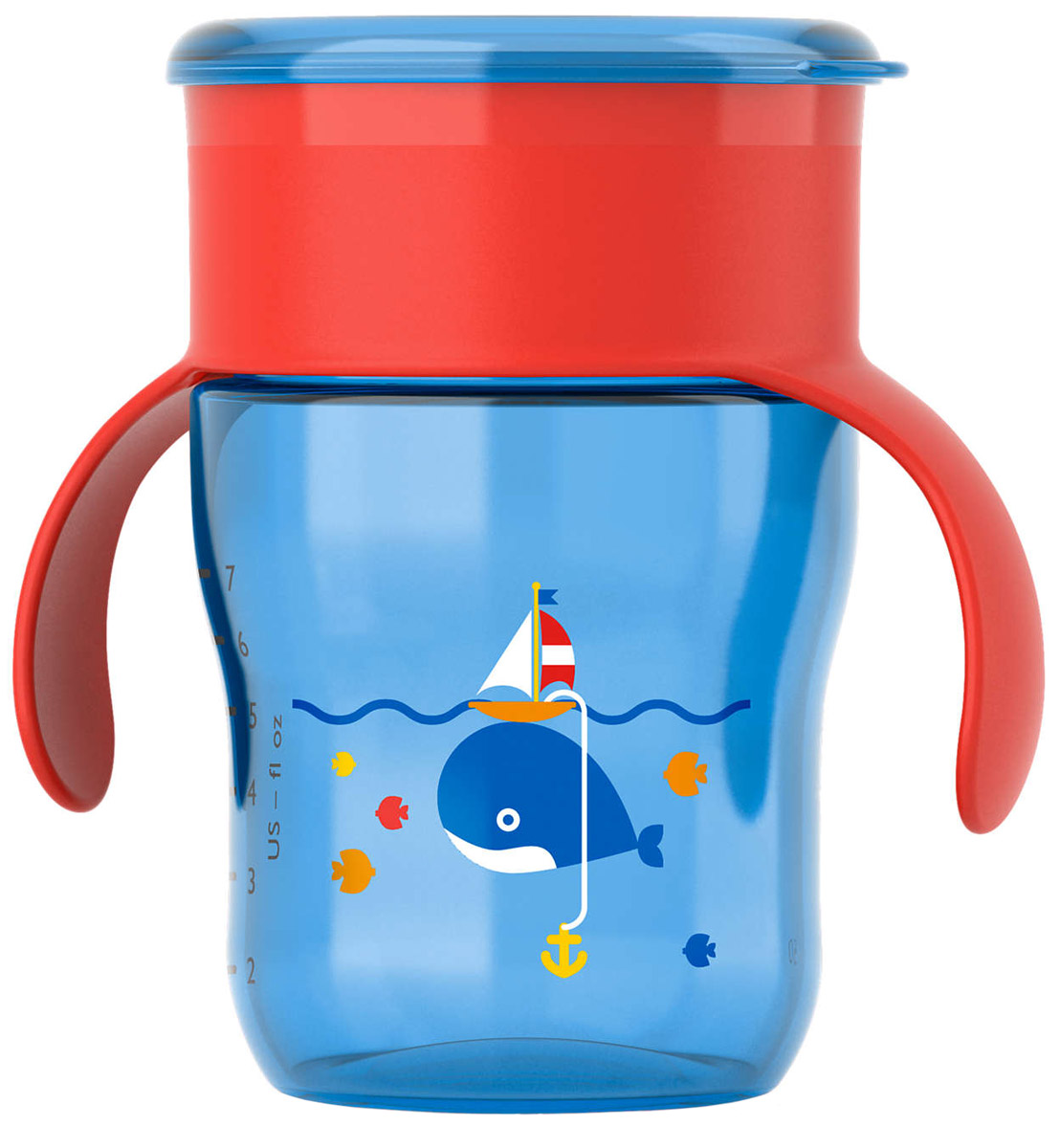 Philips Avent Чашка-поильник от 9 месяцев цвет голубой красный 260 мл кит SCF782/20 контейнер avent чашка поильник с трубочкой 1 шт розовый от 9 месяцев scf798 02