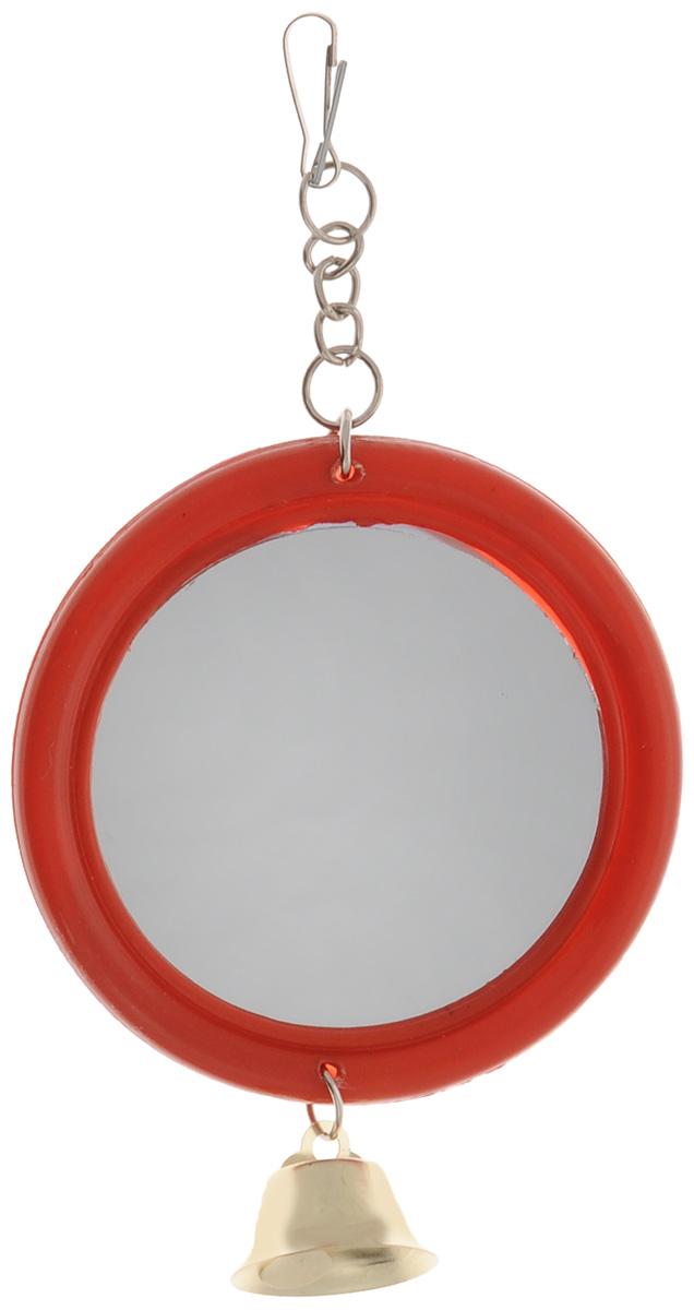 """Игрушка для птиц Triol """"Зеркало с колокольчиком"""", цвет в ассортименте"""