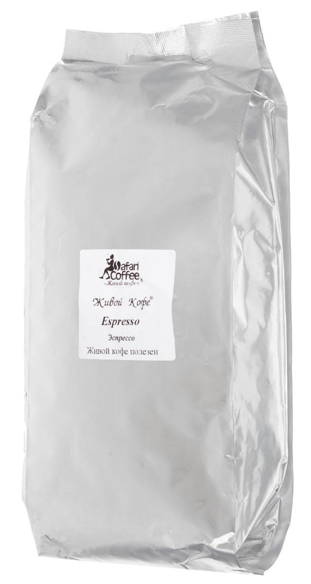 Живой Кофе Эспрессо кофе в зернах, 1 кг (промышленная упаковка) jardin crema кофе в зернах 1 кг промышленная упаковка