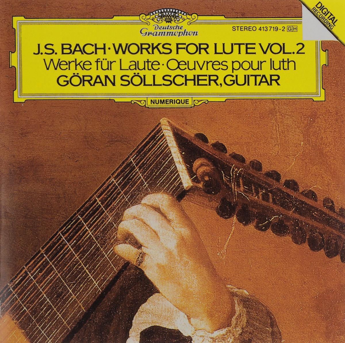 Горан Сольшер Goran Soellscher. J. S. Bach. Works For Lute. Vol. 2 w middelschulte konzert uber ein thema von j s bach