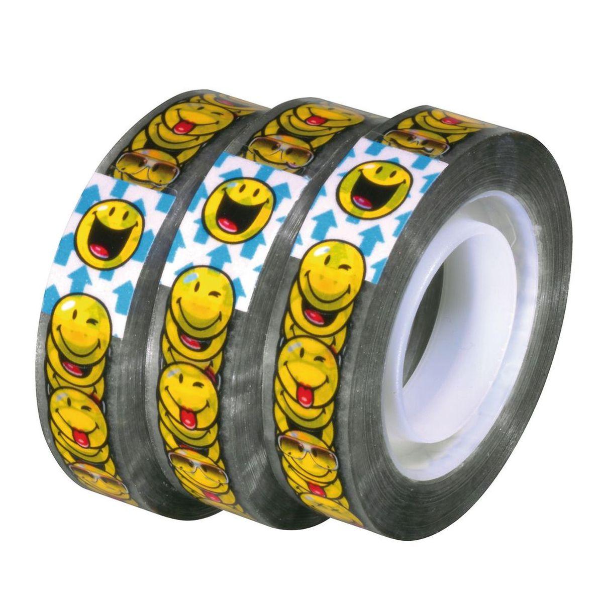 цена на Herlitz Клейкая лента Smiley World 20 м х 12 мм 3 шт