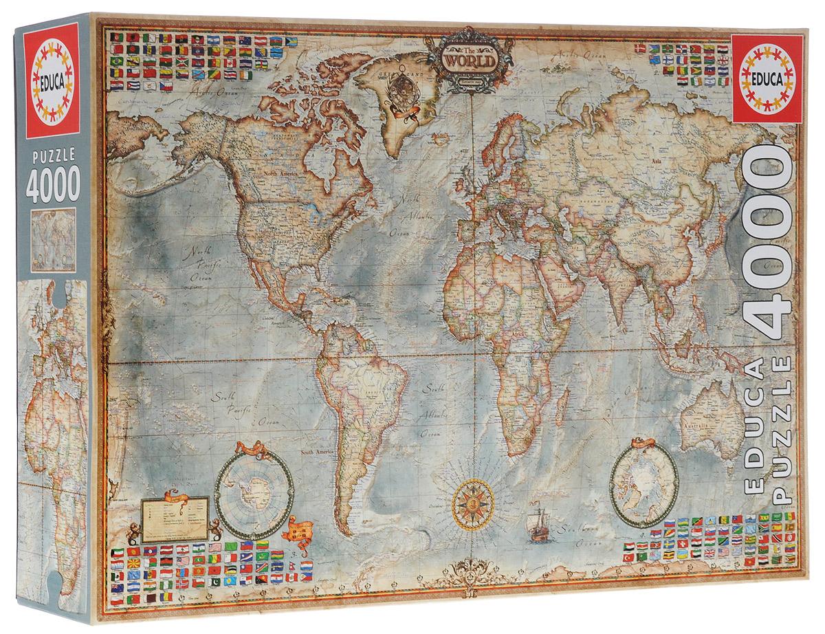 2400ce4f40e12 Карта мира. Пазл, 4000 элементов — купить в интернет-магазине OZON с быстрой  доставкой