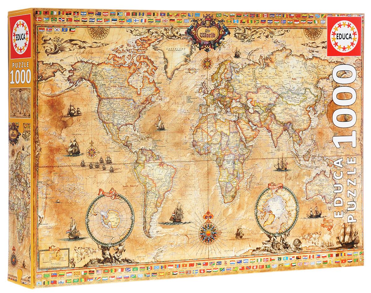 Античная карта мира. Пазл, 1000 элементов античная карта мира пазл 1000 элементов