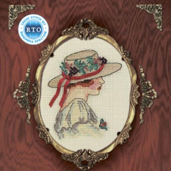 Набор для вышивания крестом RTO Женский образ, 9 х 11,5 см. EH304 набор для вышивания крестом rto женский образ 9 х 11 5 см eh304