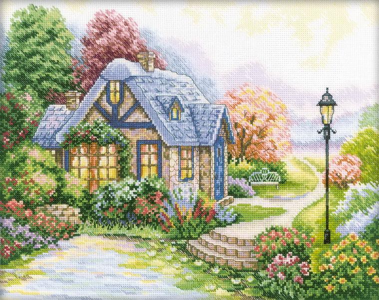 Набор для вышивания крестом RTO Дом, милый дом, 34 х 27 см набор для вышивания крестом rto дом милый дом 34 х 27 см