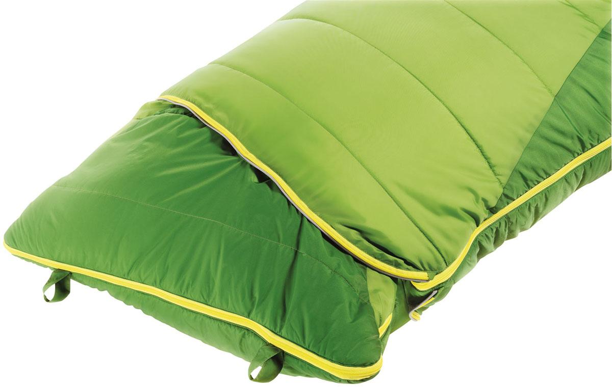 Спальный мешок Deuter Dreamland, цвет: зеленый, левая молния