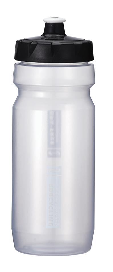 """Бутылка для воды BBB """"CompTank"""", велосипедная, цвет: прозрачный, черный, 550 мл"""
