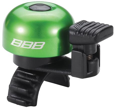 Звонок велосипедный BBB EasyFit, цвет: зеленый