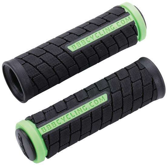 Грипсы BBB DualGrip, цвет: черный, зеленый, 10,2 см, 2 шт. BHG-07
