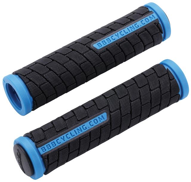 Грипсы BBB DualGrip, цвет: черный, синий, 12,5 см, 2 шт. BHG-06