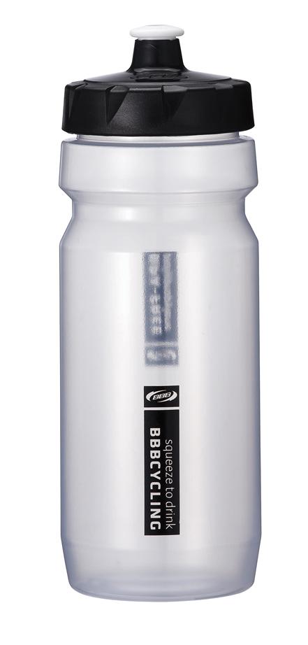 """Бутылка для воды BBB """"CompTank"""", велосипедная, цвет: белый, черный, 550 мл"""