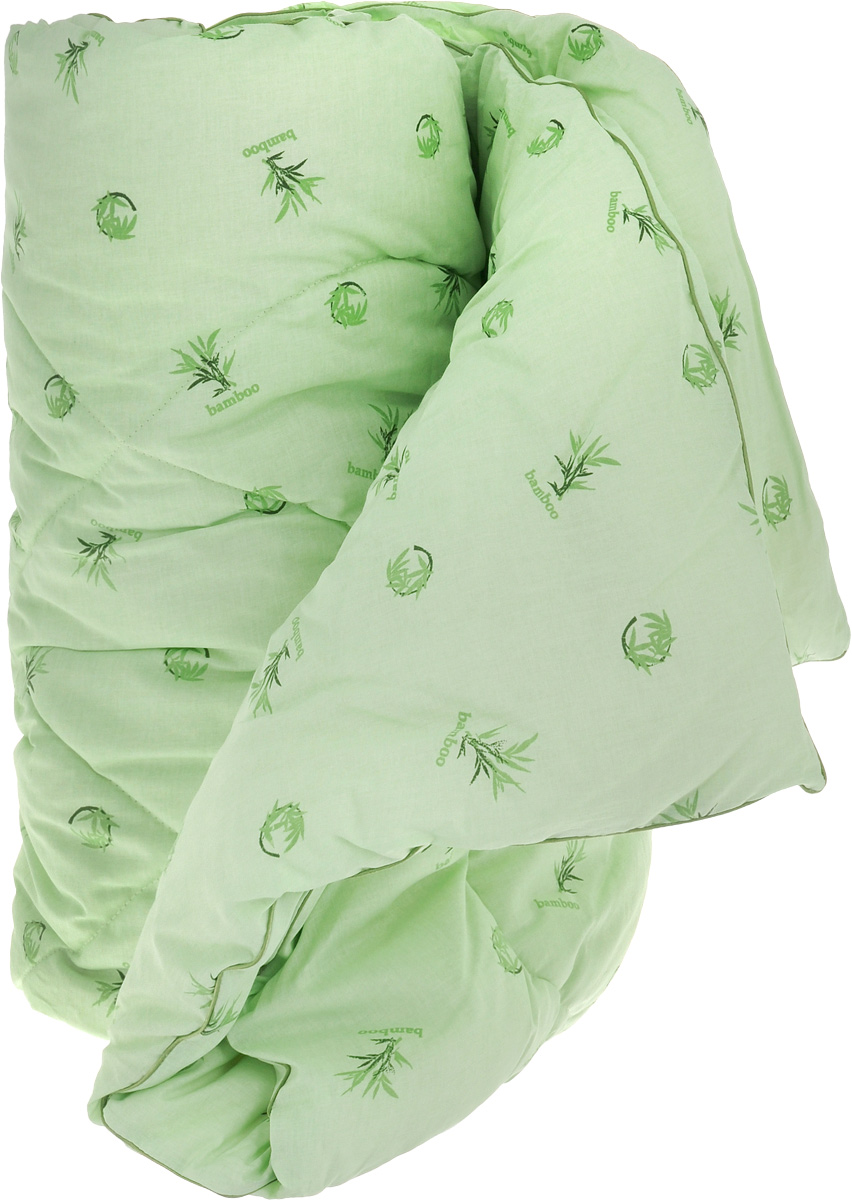 """Одеяло теплое Легкие сны """"Бамбук"""", наполнитель: бамбуковое волокно, 140 х 205 см"""