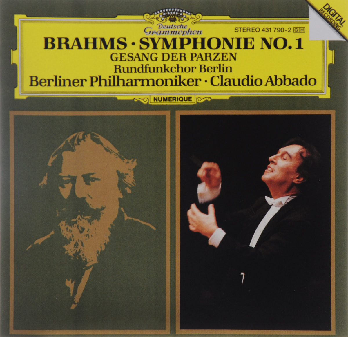 Клаудио Аббадо,Rundfunkchor Berlin,Berliner Philharmoniker Claudio Abbado. Brahms. Symphonie No. 1 / Gesang Der Parzen саймон хелси мария тодтенхаупт йерг штродтофф berliner rundfunkchor simon halsey morgenlicht