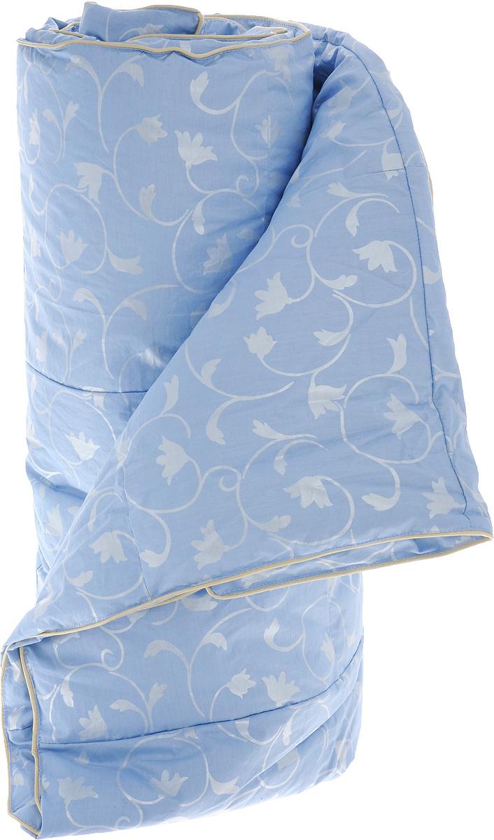 """Одеяло легкое Легкие сны """"Камелия"""", наполнитель: гусиный пух, 140 х 205 см"""