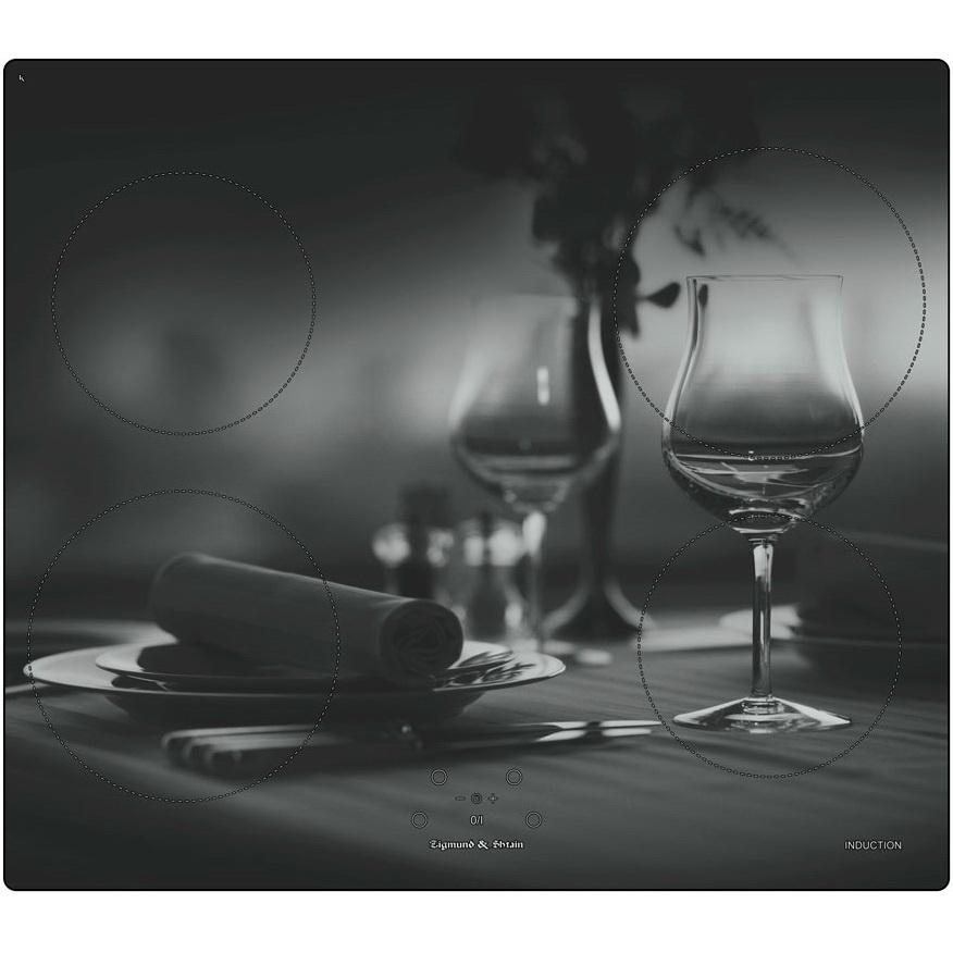 Индукционная варочная поверхность Zigmund& Shtain CIS 219. 60 DX Цифровая индикация работы. Автоматическое определение размера посуды...