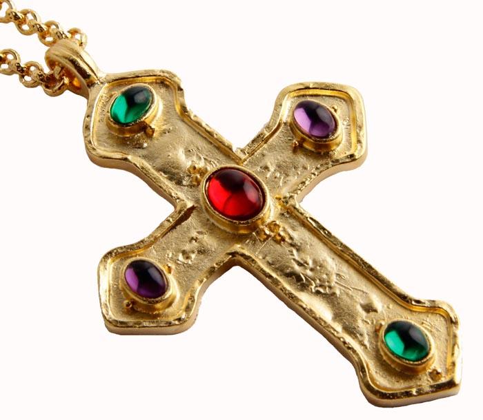 Подвеска/кулон бижутерный подвеска крест этнический с символом солнца
