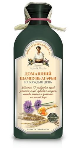 Рецепты бабушки Агафьи шампунь Домашний Агафьи на каждый день 350 мл рецепты бабушки агафьи шампунь хлебный на основе мыльного корня для всех типов волос 350 мл