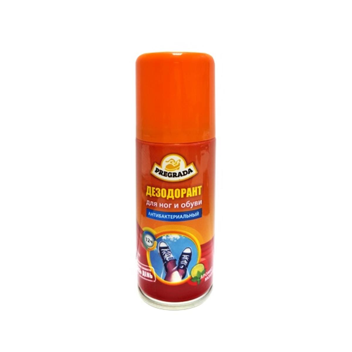 Аэрозоль дезодорант Pregrada Защита от запаха, для ног и обуви, 100 мл сушилка для обуви pregrada