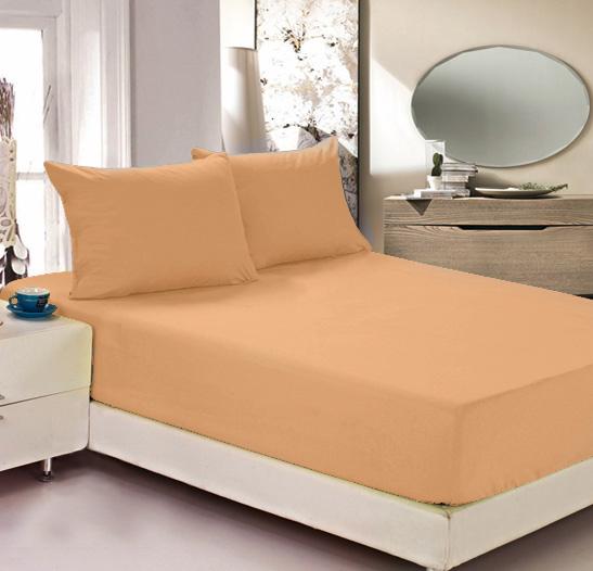 """Наволочка Легкие сны """"Color Way"""", трикотаж, цвет: персиковый, 70 x 70 см, 2 шт"""