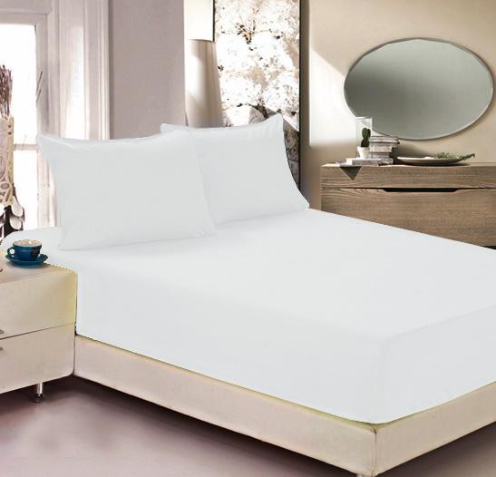 """Простыня на резинке Легкие сны """"Color Way"""", трикотаж, цвет: белый, 90 x 200 см"""