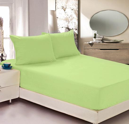 """Простыня на резинке Легкие сны """"Color Way"""", трикотаж, цвет: салатовый, 90 x 200 см"""