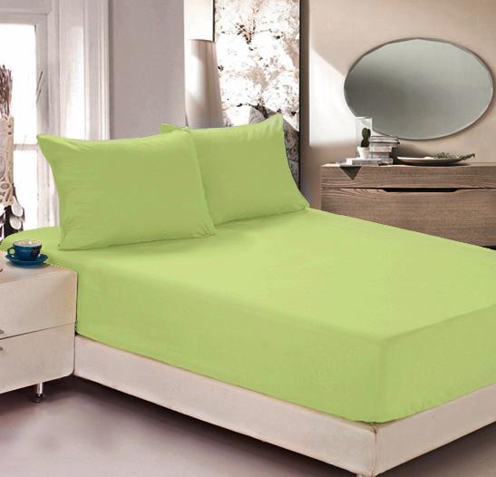 """Простыня на резинке Легкие сны """"Color Way"""", трикотаж, цвет: светло-салатовый, 180 x 200 см"""