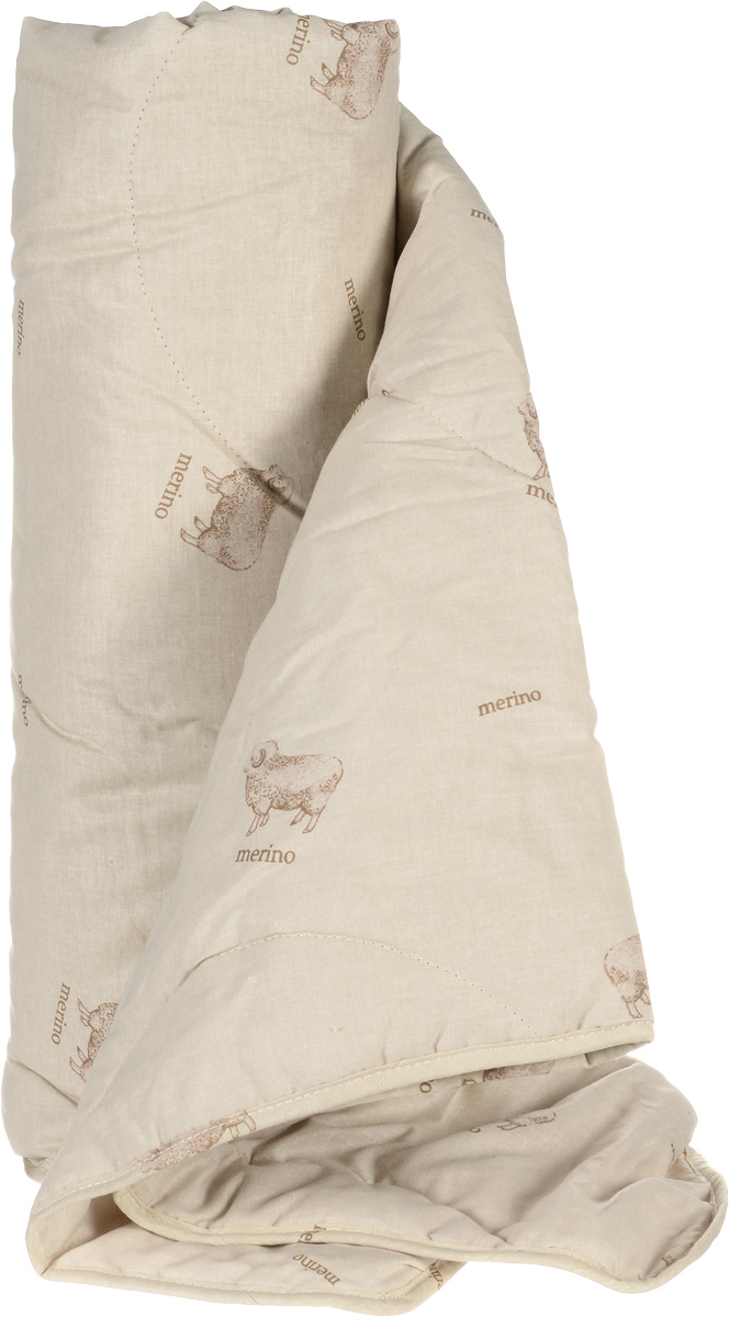 """Одеяло легкое Легкие сны """"Полли"""", наполнитель: овечья шерсть, 140 x 205 см"""