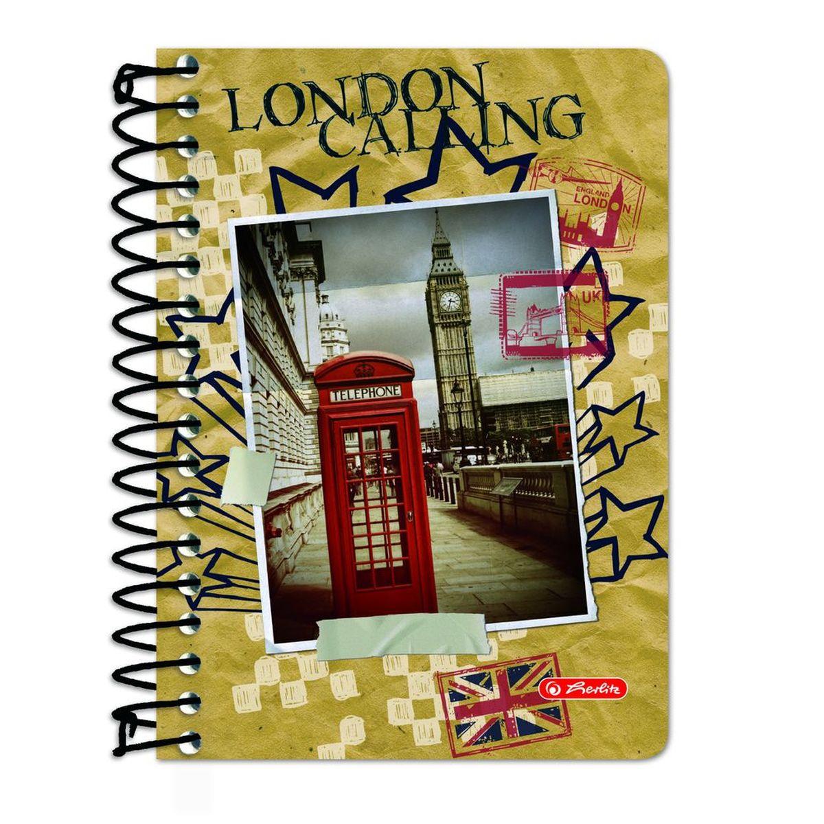 Herlitz Блокнот City Trips London 200 листов в клетку santoro london блокнот we can all shine 300 листов