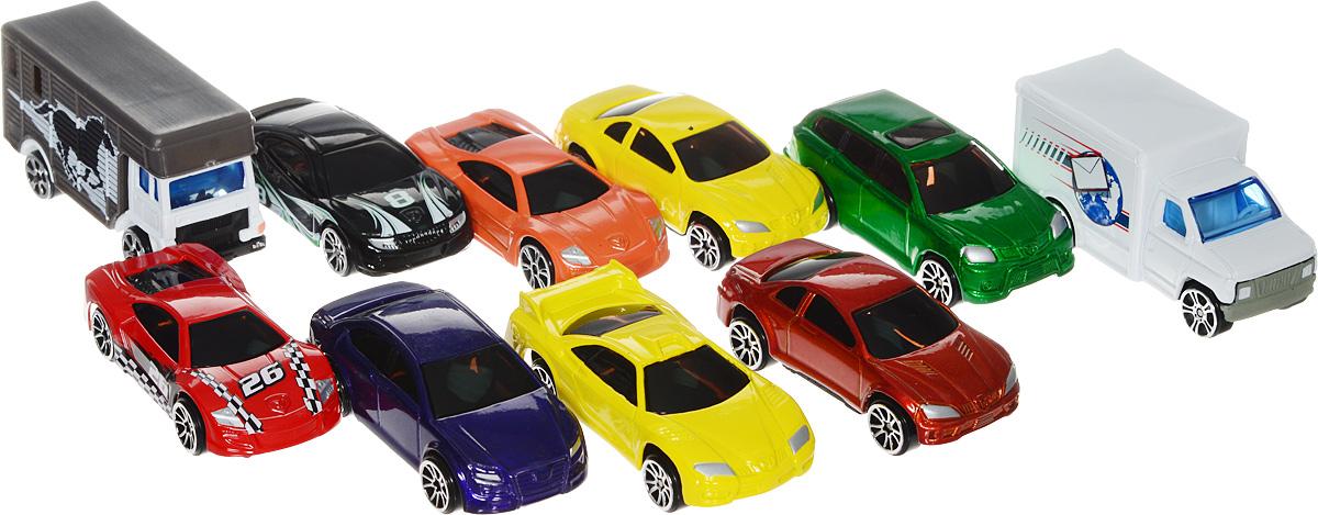 MotorMax Набор моделей машинок 10 шт набор машинок die cast полиция