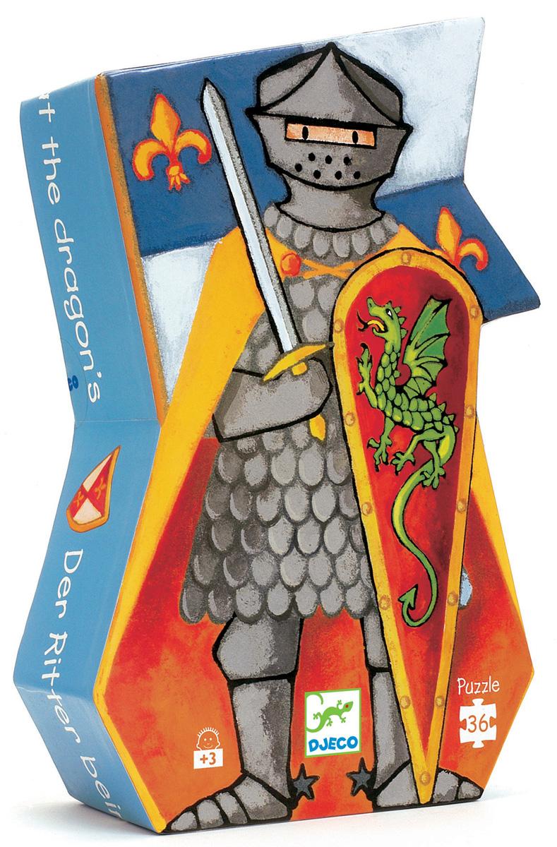 лучшая цена Djeco Пазл для малышей Рыцарь и дракон