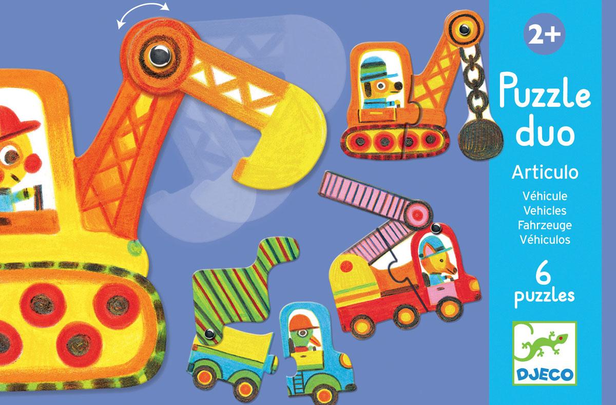 Djeco Пазл для малышей Машинки пазл djeco деревянные машинки
