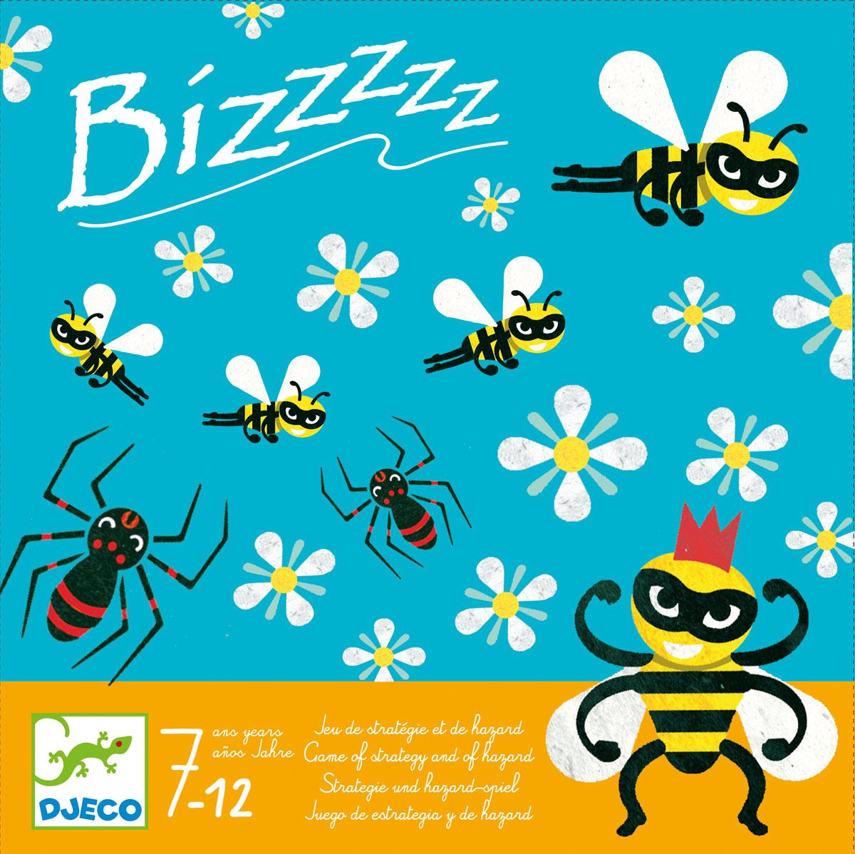 Djeco Настольная игра БзззззИ-3003Настольная игра Бззззз – увлекательная стратегическая игра с пчелками от французского производителя Джеко, которая идеально подойдет детям 7-12 лет. Цель игры состоит в том, чтобы пчелки сделали как можно больше мёда. Однако, все не так просто – ведь им могут помешать злостные паучки. Игра прекрасно развивает стратегические способности ребенка, она проста и доступна для понимания каждому. В наборе: 1 игровое поле, 31 фишка с пчелками, другими насекомыми и цветочками, 1 деревянный кубик.
