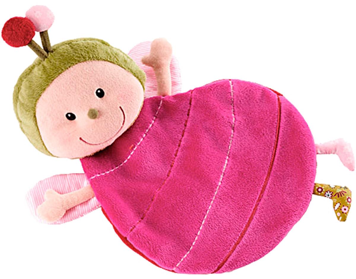Lilliputiens Игрушка-обнимашка Божья коровка Лиза с держателем для пустышки божья коровка лиза игрушка обнимашка в коробке lilliputiens
