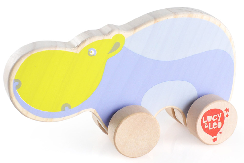 Lucy&Leo Игрушка-каталка Бегемот игрушки каталки лена утенок 65620