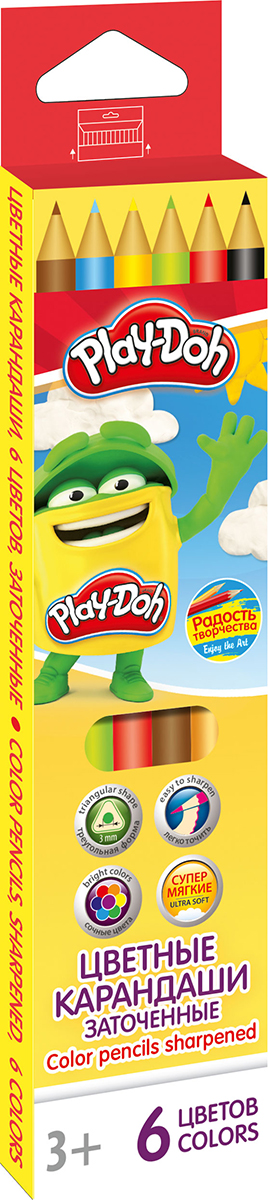 Play-Doh Набор цветных карандашей 6 цветов