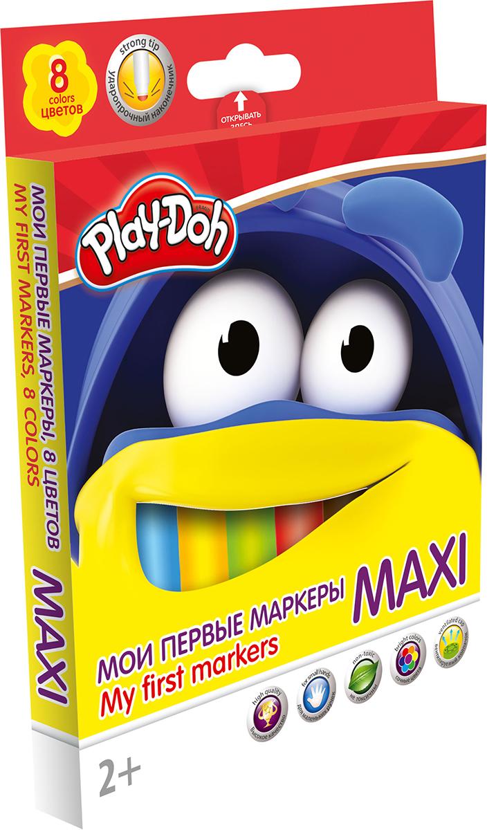 Play-Doh Набор маркеров Maxi 8 цветов набор для рисования play doh необычное яйцо cpdo062