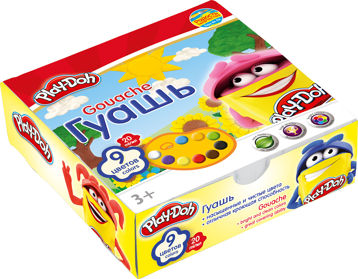 Play-Doh Краски гуашевые 9 цветов play doh краски гуашевые 6 цветов