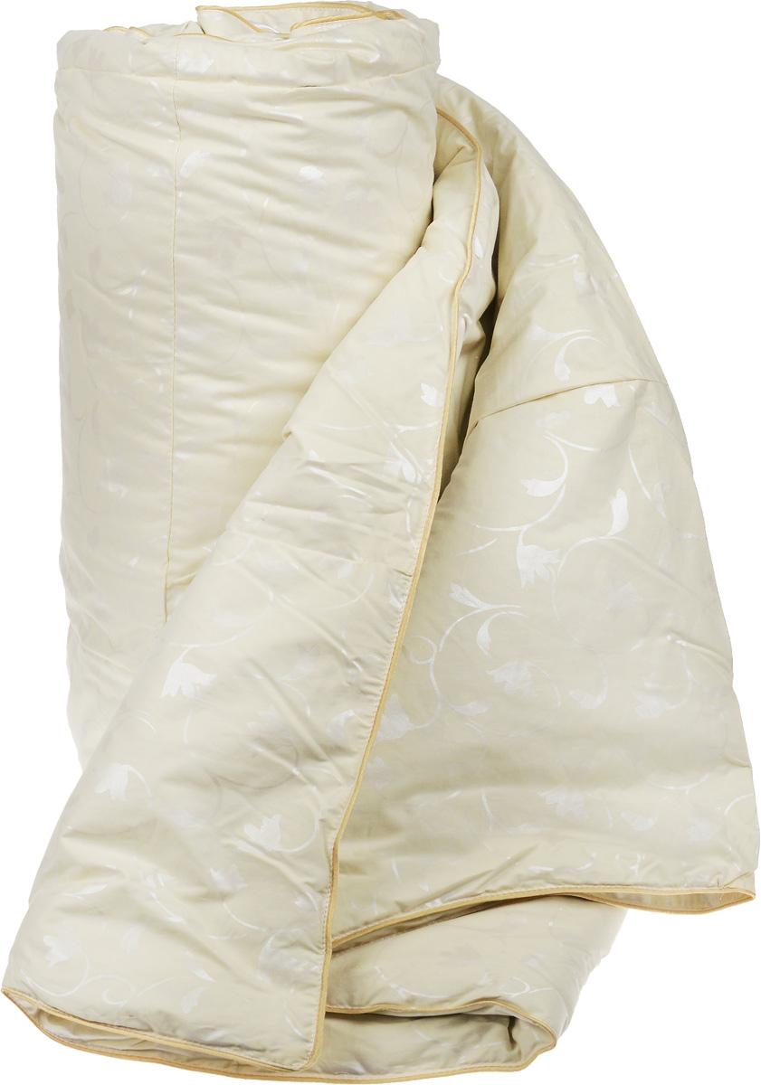 """Одеяло теплое Легкие сны """"Камелия"""", наполнитель: гусиный пух, 200 х 220 см"""