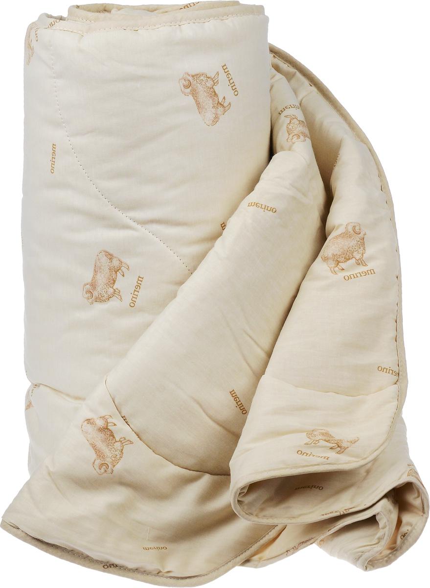 """Одеяло легкое Легкие сны """"Полли"""", наполнитель: овечья шерсть, 200 x 220 см"""