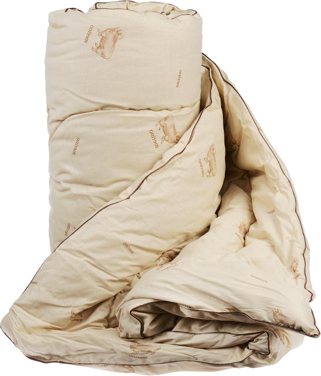 """Одеяло теплое Легкие сны """"Полли"""", наполнитель: овечья шерсть, 140 x 205 см"""