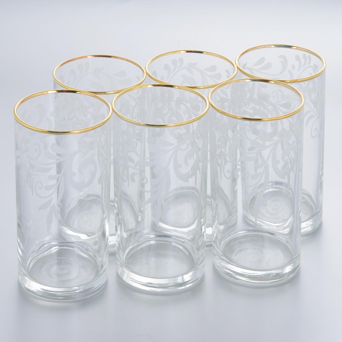 Набор стаканов для сока Гусь-Хрустальный Веточка, 290 мл, 6 шт набор стаканов гусь хрустальный веточка 350 мл 6 шт